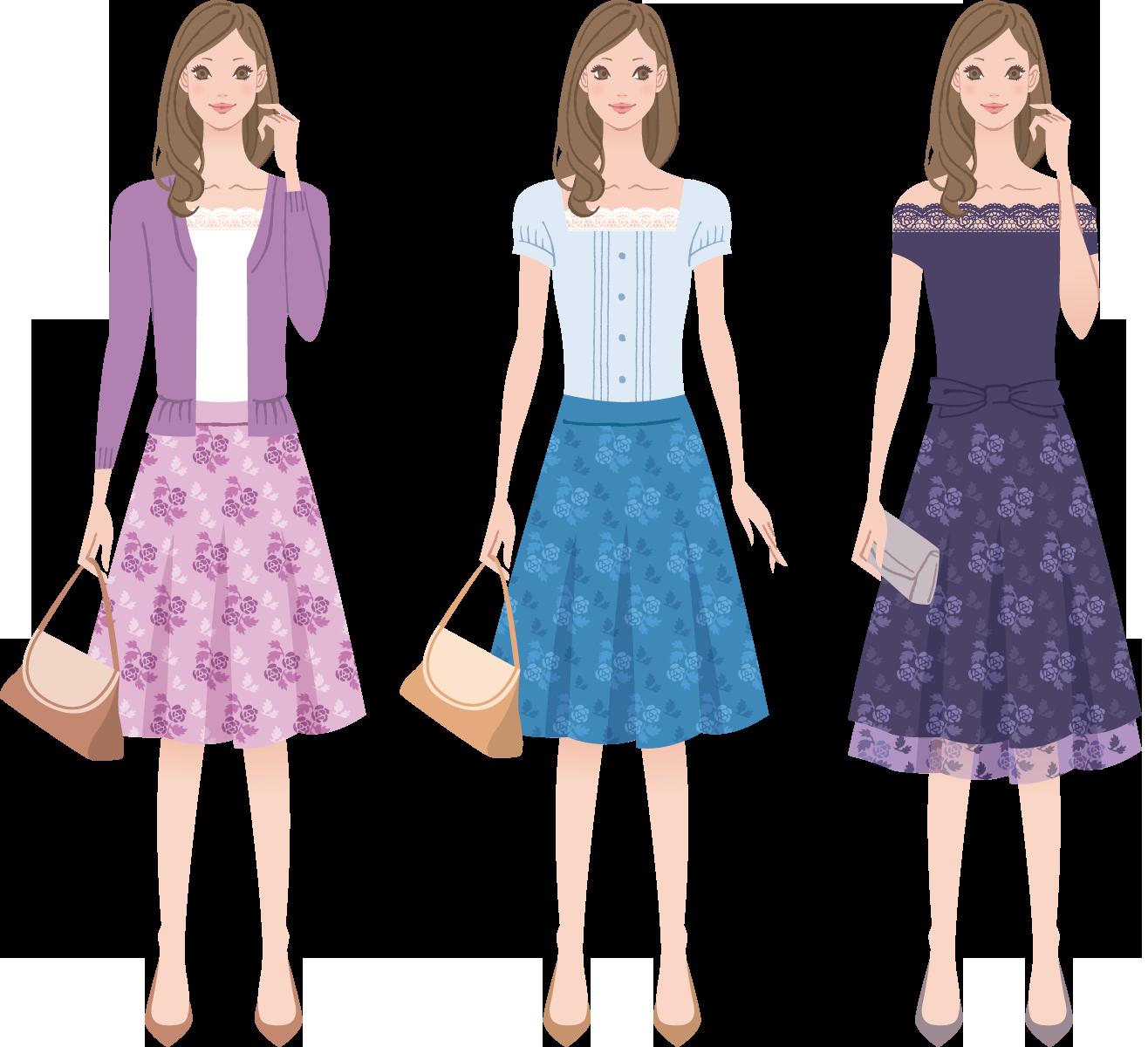 ブライダルフェア 女性 服装
